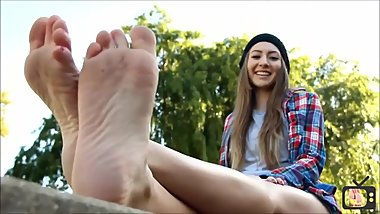 Blonde Skater Feet (Foot Fetish Casting)