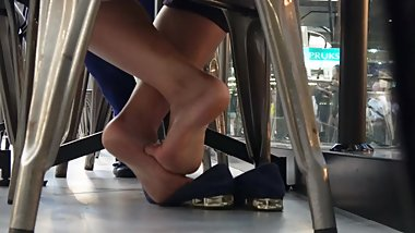 Hottest Asian Girly Soles At The Food Court 2