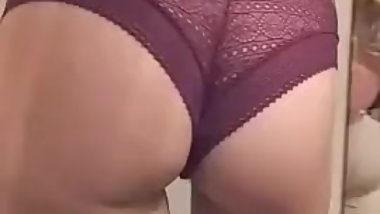 Ass in lingerie
