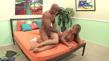 Barley Legal Blonde Gets Her Feet And Pussy Fucked