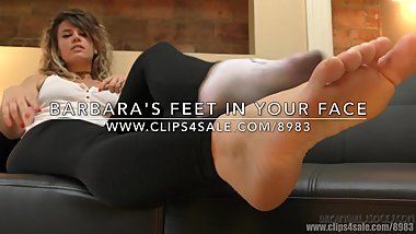 Barbara's Feet in Your Face - (Dreamgirls in Socks)