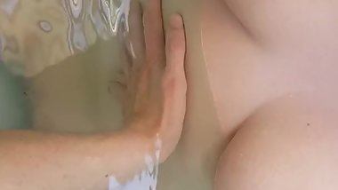 Teen with shaved pussy and Big boobs , After party in jacuzzi