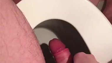 Piss and cum in the toilet
