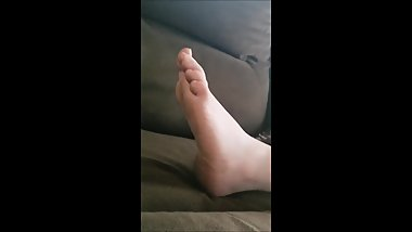 Girlfriend sleeping feet
