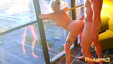 EDC Vegas Candy Girl Brutally Rough Fucked Inside Out Luxor Window