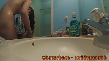 Teen Shower Voyeur Hidden Bathroom Cam
