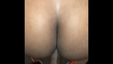She wakes me up with head so I cum on her huge ass