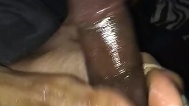 Wet Ebony Foot Job