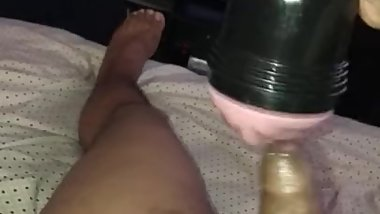 Fucking my Fleshlight before school