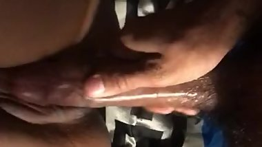 PETITE EBONY PUSSY STROKES BY LONG BLACK COCK
