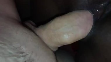 Fucking awesome sex with Black girl and Russian guy, cum a lot of wet pussy