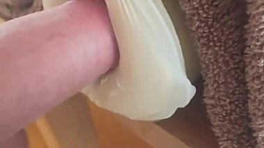 homemade fleshlight fucked by my big white cock freshly shaved