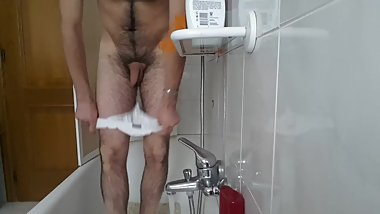 Striptease in the shower