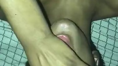 Hot babe gets mouth full of cum