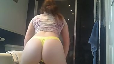 Sexy Girl Twerking at Bathroom