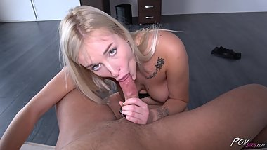 Crazy slut offers her body to stranger and eat his cum