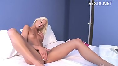 Francesca Facella masturbating with dildo