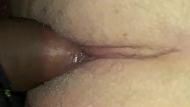 Shaved pink pussy upclose