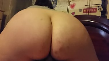 Bruises chubby white ass rides dick like a pro