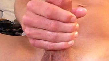 Huge white throbbing cock