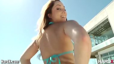 HardX Remy Lecroix Celebrates Her Hard Work Towards a Sexy ASS!