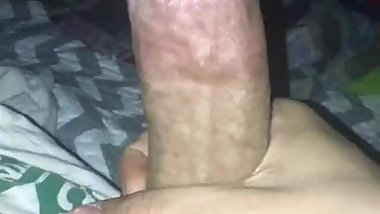 Stroking Big Hard Fat Cock