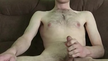 Young german boy masturbates his big cock and cum very hard
