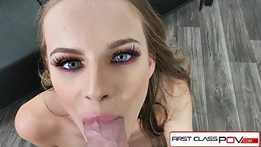 FirstClassPOV - Teen Jillian Janson take a monster cock in her throat