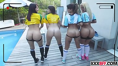 Hot Soccer Fans Playing and Fucking