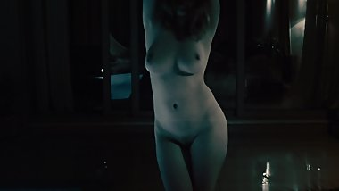 Ginger Dancing Naked in the Rain  Redheaded Girl with Big Natural Tits