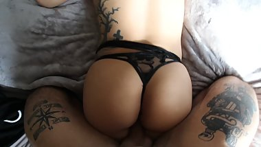 Tattoo Collage Teen POV Doggystyle
