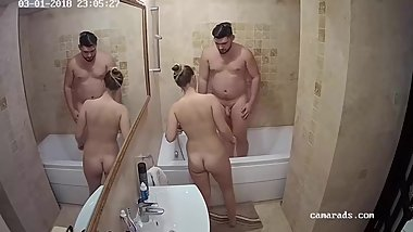 Daughter Fucks Step-Dad While Mom Showers Reallifecam Voyeur