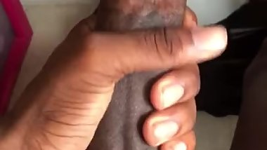 18 year old BBC jacking off in the hood