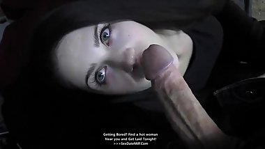 Stunning Babe gives perfect sensual Blowjob