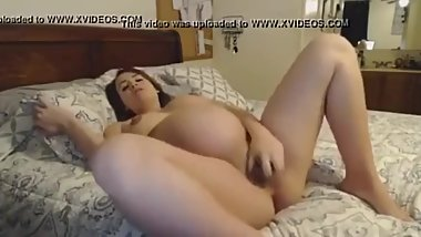 Pregnant White Slut Talks About Black Cock JOI