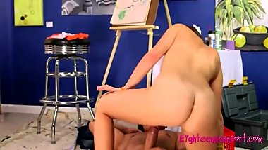 Young Artist Gets Fucked by Her Horny Model