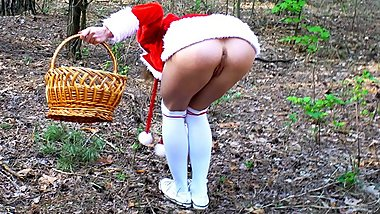 Little Red Riding Hood is caught and fucked by wolf in the forest. Mia