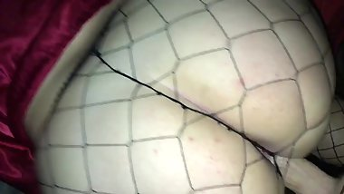 18 Y/O PAWG GETS FUCKED IN FISHNETS