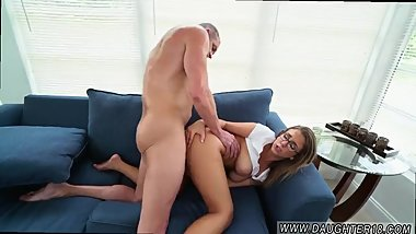 Blonde plays with tits webcam Sneaking Around With Daddy's associate