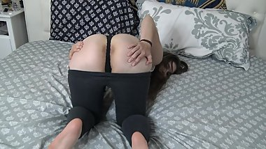 Stripping And Masturbating After School