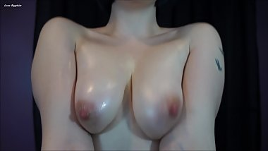 Oily TOPLESS TIt Worship JOI! Femdom Nude Oil Jerk Off Instruction