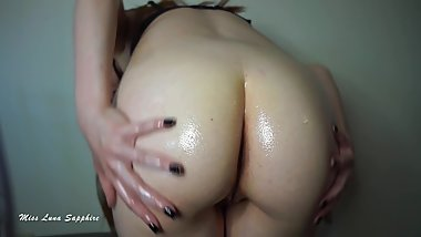 Oil Soaked Ass JOI: Oily Booty Femdom Jerk Off Instruction Nude Butt