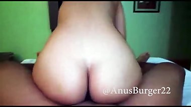 Big Ass Mexican Teen Cums Hard While Riding